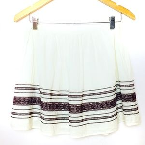 Abercrombie & Fitch Maroon & Cream Skirt